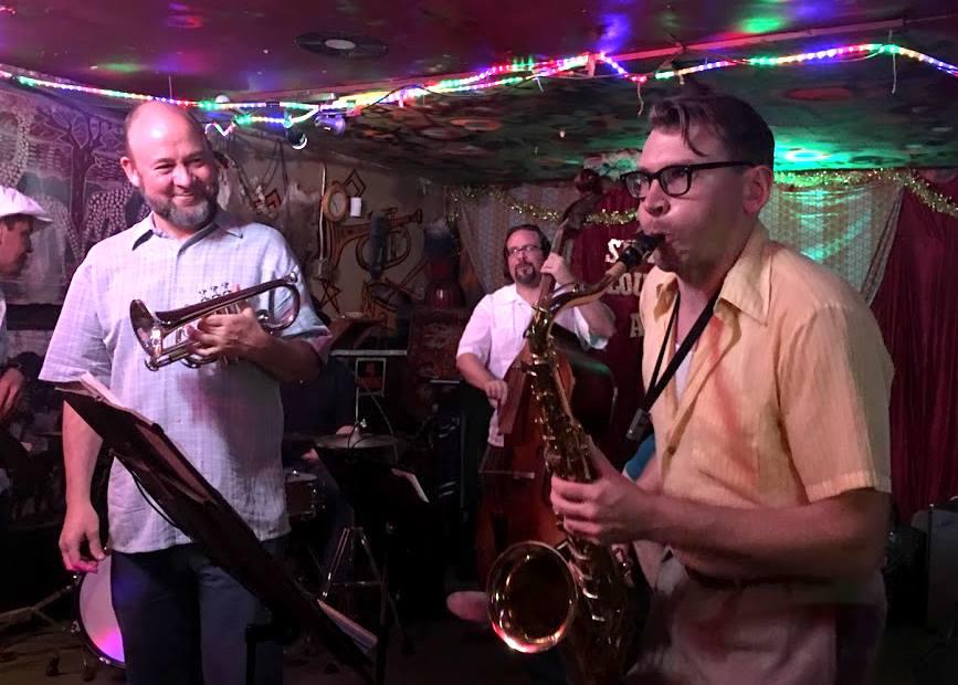 From left: Mark Gonzales, David Jellema, Joshua Hoag, Jonathan Doyle