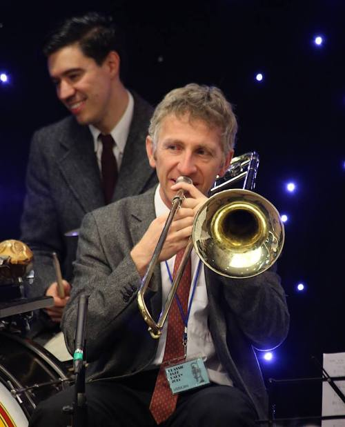 Nick Ball and Graham Hughes at the 2015 Mike Durham Classic Jazz Party. Photograph by Emrah Erken.