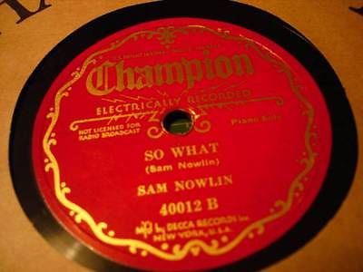 SAM NOWLIN Champion label