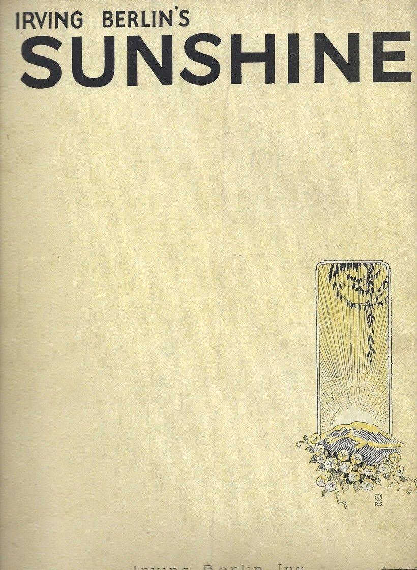 sunshine-irving-berlin-rare-antique-original-sheet