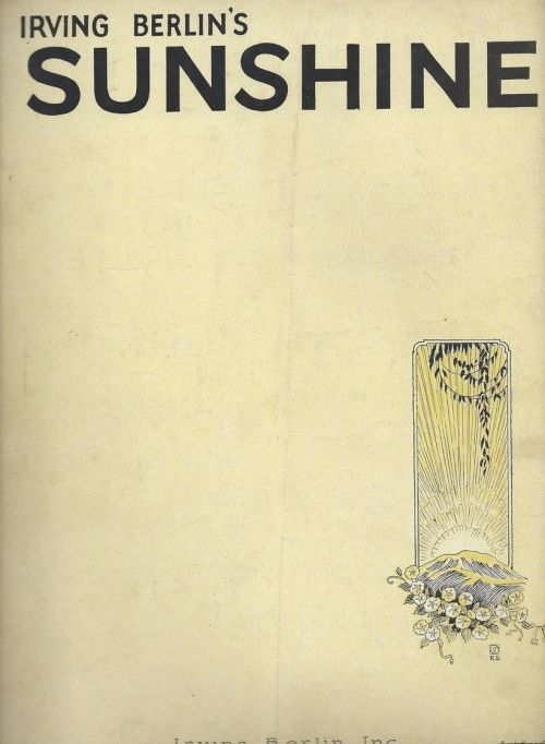 sunshine-irving-berlin-rare-antique-original-sheet