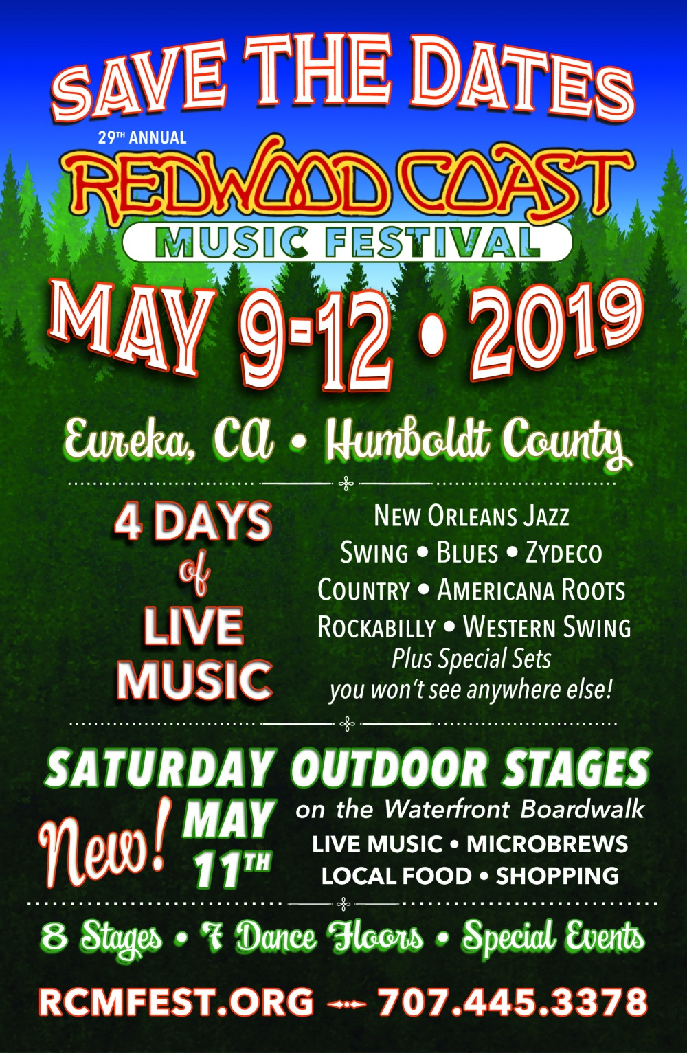 THE DARLING BANDS OF MAY! at the REDWOOD COAST MUSIC FESTIVAL (May 9-12, 2019)